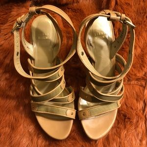 Stuart Weitzman Tan Leather Strappy Sandals